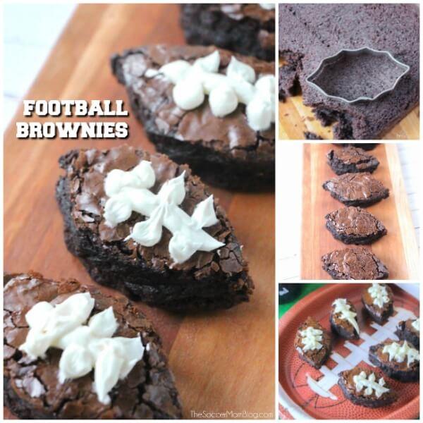 Brownies au football Super Bowl Party dessert