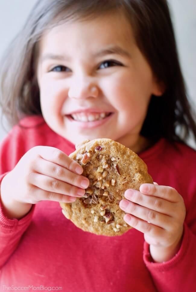 Bakery Style Pecan Toffee Cookies - gluten free recipe