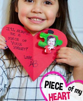 """""""Piece of my Heart"""" Kid Valentine Card Craft"""
