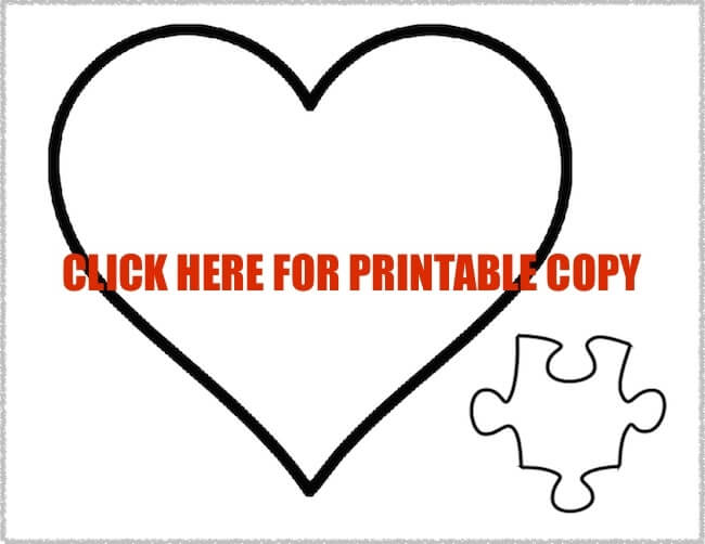 printable puzzle piece pattern on The Soccer Mom Blog