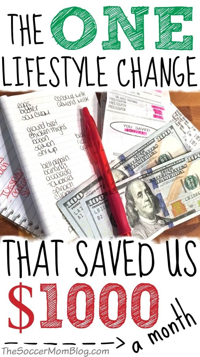 When I lost my job three years ago, we lost half our family income! Here's how we made it on one income - THIS one change saved us over $1400 a month! #savingmoney Saving Money #budget
