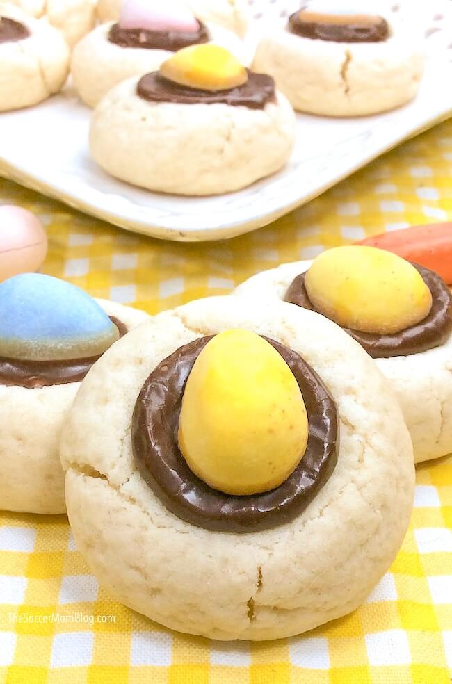 sugar cookies filled with Cadbury Mini Eggs