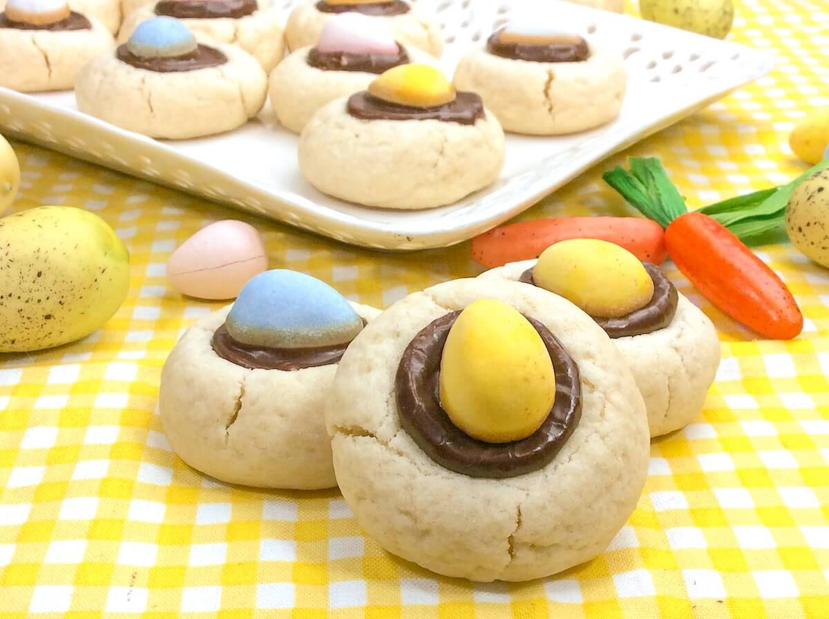 Easter cookies made with Cadbury Mini Eggs