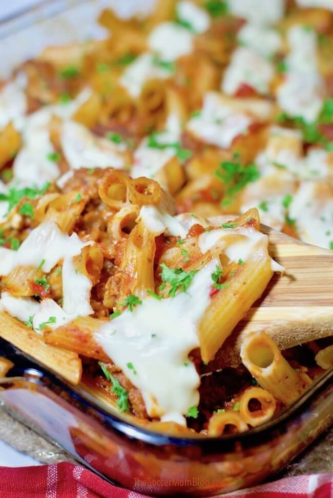 """This gluten free baked ziti is so flavorful that you might like it even better than the """"real thing!"""" Can be made dairy free too!"""
