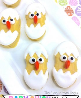 Nutter Butter Chicks Easter Cookies