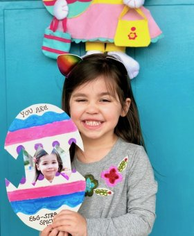Pop-Up Easter Egg Card with Child's Photo
