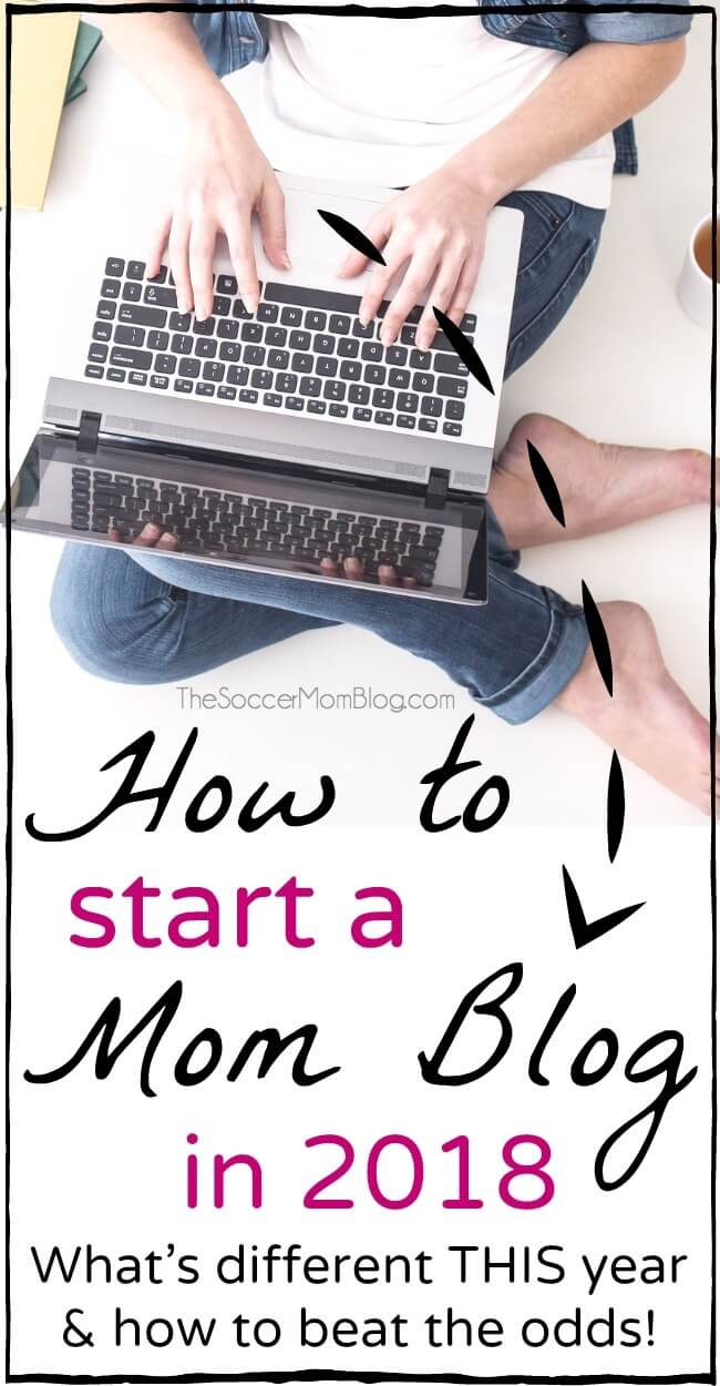 Everything you need to know to start a mom blog in 2018 to make money working at home.