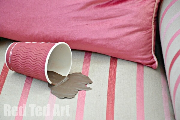 spilled coffee April fools prank