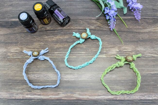 3 braided leather diffuser bracelets