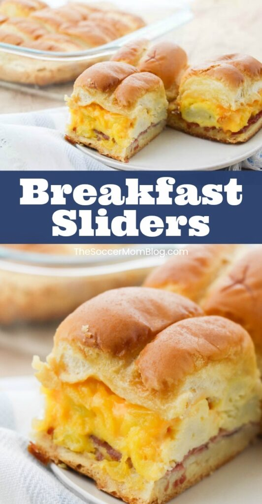 These delicious breakfast sliders served warm out of the oven are sure to brighten up any morning! Click for our breakfast sandwich sliders recipe video!