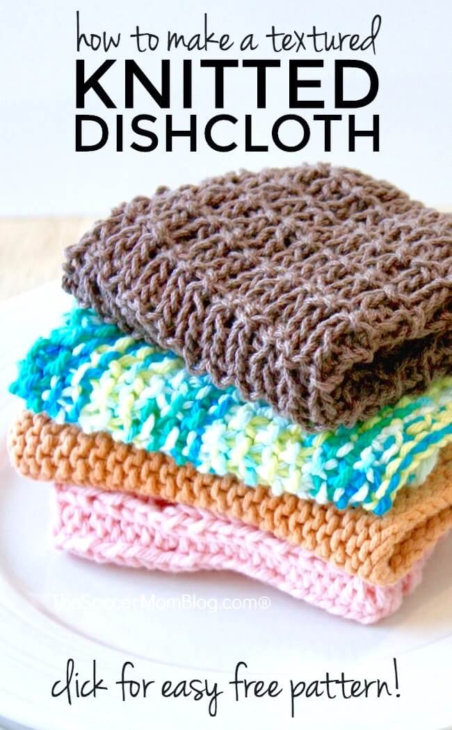 Create something beautiful AND useful with this easy knitted dishcloth! (Free pattern included) - This is simple, classic knit pattern perfect for both beginning and experienced knitters.