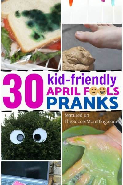 A BIG list of friendly April Fools Pranks for kids that are FUN for EVERYONE! Updated for 2019!