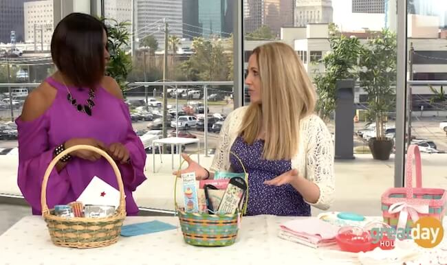 non candy Easter baskets on Great Day Houston