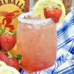 Strawberry Lemonade cocktail made with Fireball and Crown Royal whisky