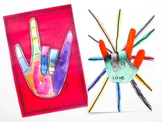 LOVE handprint card fro Mother's Day