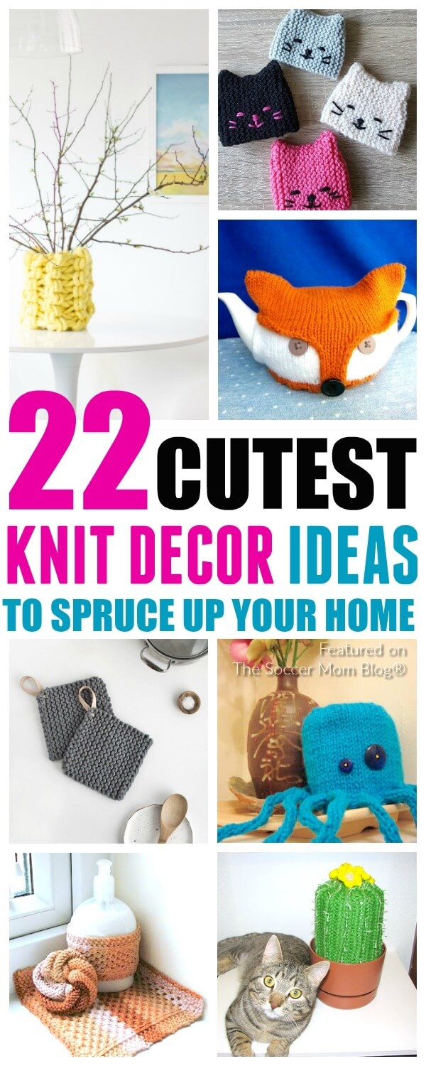 Add some personality to your kitchen and bath with this collection of ridiculously cute knitting projects!