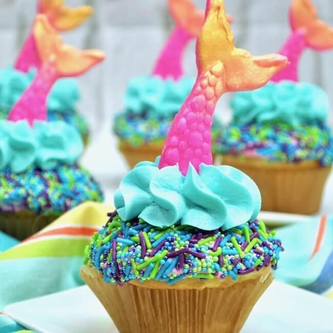 Easy Mermaid Cupcakes
