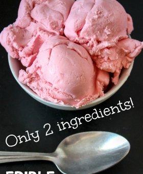 2-Ingredient EDIBLE Ice Cream Play Dough (VIDEO)