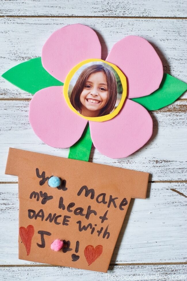 Mother's Day Foam Flower Card