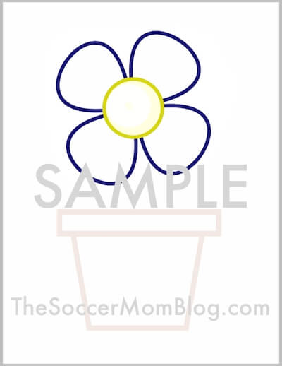 Free printable flower pot pattern