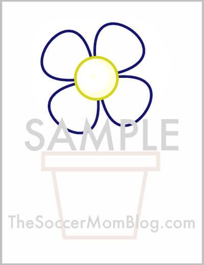 image about Printable Flower Pot named Totally free Printable Flower Pot Behavior - The Football Mother Weblog