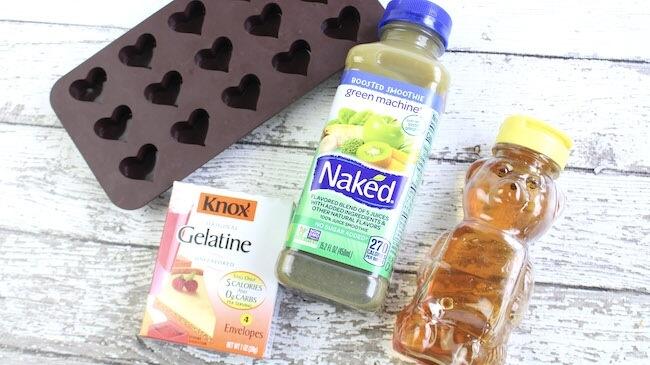 Homemade gummy snacks ingredients