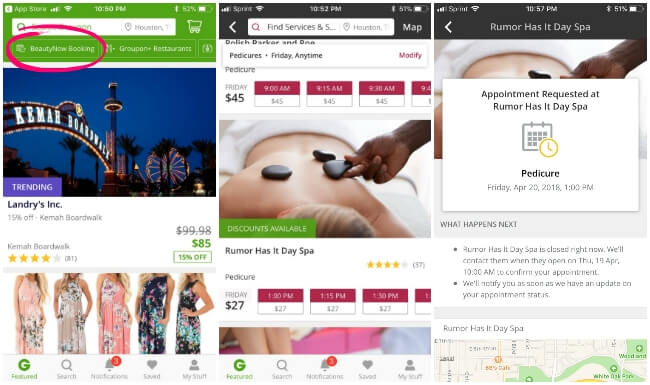 How to use the Groupon BeautyNow app in Houston