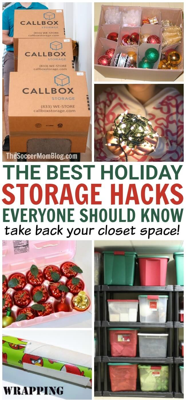 Stop devoting all your home's closet space to ornaments and lights! These brilliantly simple Christmas decoration storage hacks will free up so much space and make life easier!