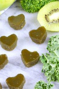 green gummy hearts