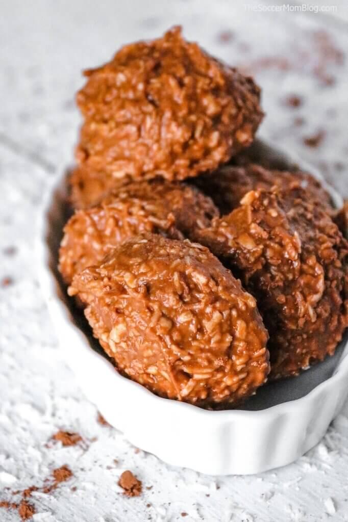keto haystack cookies in a bowl