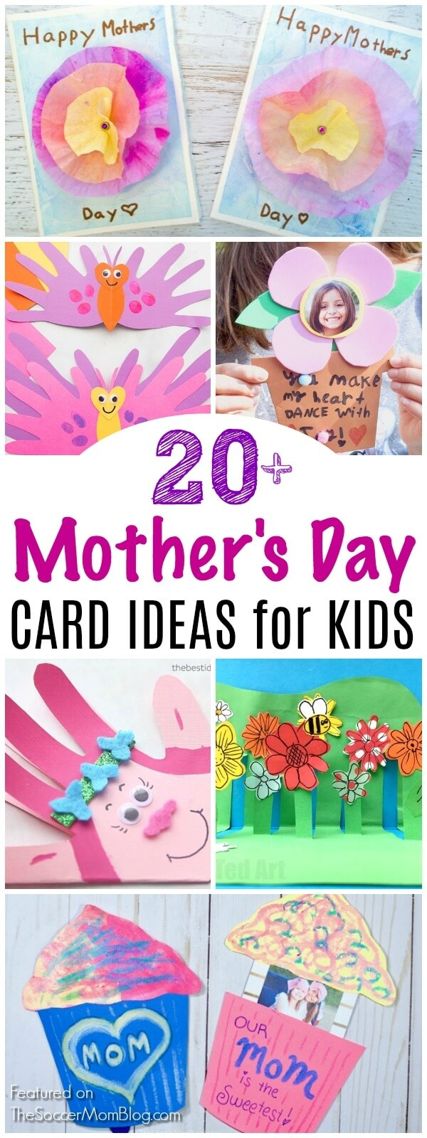 A collection of the cutest Mother's Day Card Ideas and homemade gifts that kids can make themselves. Handprint cards, pop-up cards, photo cards, and more adorable keepsakes that mom will treasure!