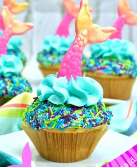 Easy Mermaid Cupcakes