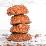 stack of keto no bake cookies