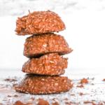 stack of keto no bake cookies