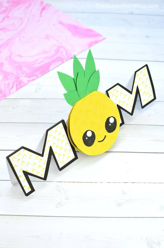 Pineapple homemade mothers day card