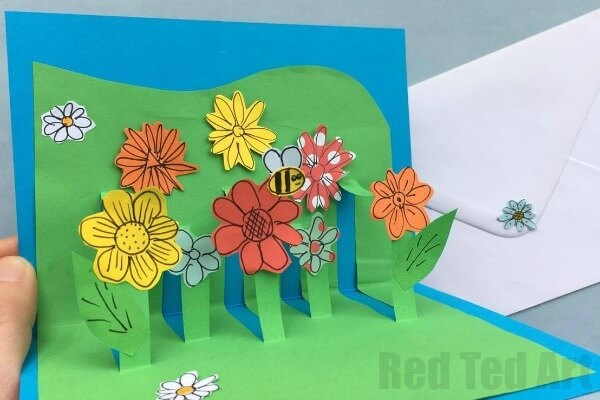 flower garden Mother's Day card