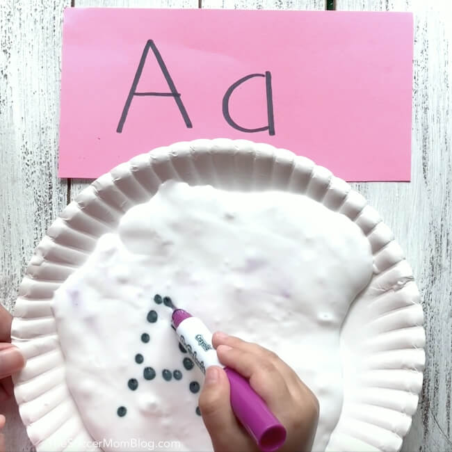 How to practice writing letters with slime