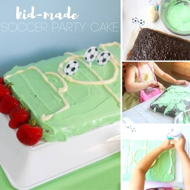 Your little soccer star will LOVE this Soccer Birthday Cake — and you'll love how easy it is to make! Skip the pricey bakery cakes for this tasty homemade cake that looks just like a soccer field!