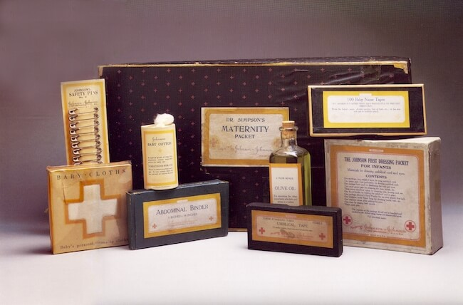 Johnson & Johnson Maternity Kit circa 1894