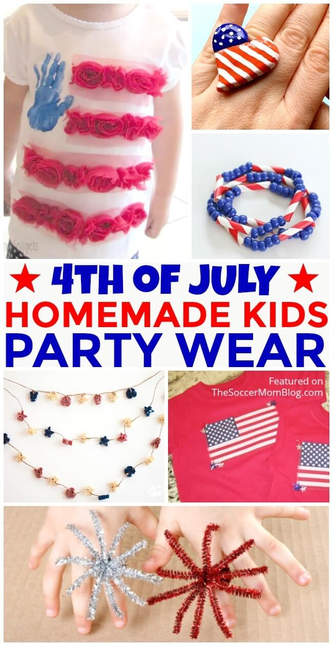 The cutest DIY 4th of July fashion, clothes, and jewelry ideas for kids
