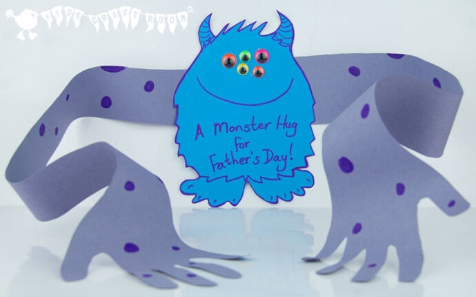 monster hug card