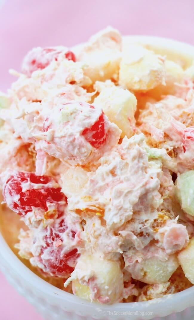A classic Ambrosia Salad recipe, just like Grandma made it! Fluffy, sweet, and absolutely divine!