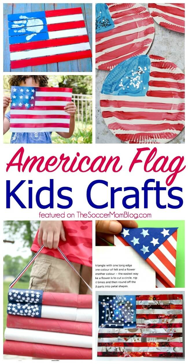 The cutest American Flag crafts for kids!
