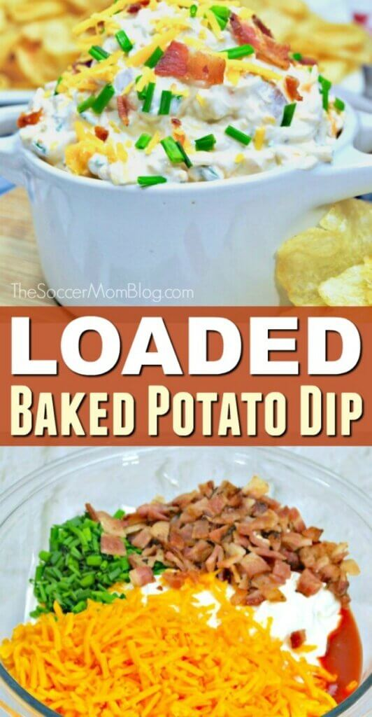 You can whip up this easy loaded baked potato dip in minutes...and it might disappear just as quickly!