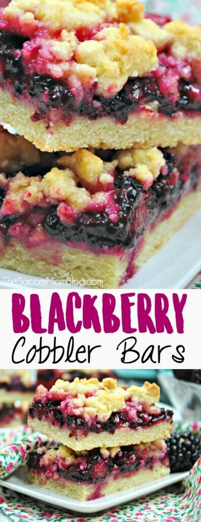 Blackberry Crumble Bars are just like the classic summer pie, in a fabulous hand-held form!