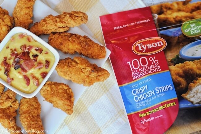 Tyson Crispy Chicken Strips with bacon aioli