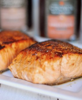 Sweet & Savory Sherry Maple Glazed Salmon