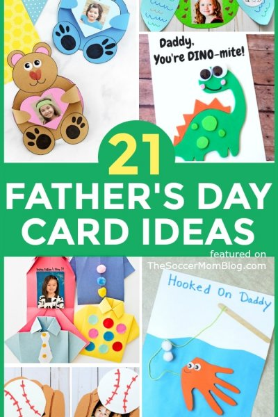 More than 20 adorable Father's Day Card ideas, homemade crafts and gifts that kids can make and personalize just for dad!