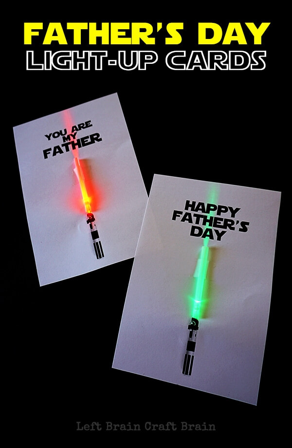 light up Father's Day card
