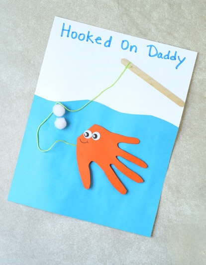 """hooked on Daddy"" card for dad"